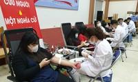 无偿献血活动采集350个单位血液
