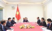 越南新任政府总理范明正与老挝总理、柬埔寨首相通电话