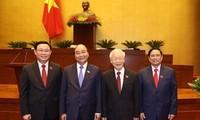 世界领导人向越南高层领导人致贺电