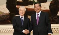 柬埔寨人民党主席洪森向越共中央总书记阮富仲致感谢信
