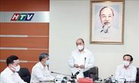 越南国家主席阮春福走访调研胡志明市各大新闻媒体