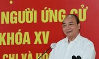 越南国家主席阮春福与胡志明市选民接触