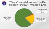 自6月12日18时至6月13日12时,越南新增191例新冠肺炎确诊病例