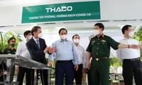 越南长海汽车股份公司生产并向卫生部捐赠运送疫苗冷链车和疫苗移动接种专用车