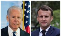 美法两国总统通电话