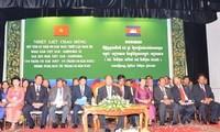 Upacara memperingati Tahun Persahabatan Kamboja-Vietnam di Penompenh.