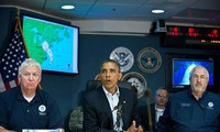 Presiden Barack Obama sedang unggul dalam pemilu Presiden Amerika Serikat