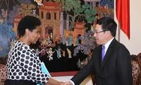 Wakil Sekretaris Jenderal PBB, Phumzile Mlambo Ngcuka melakukan kunjungan di Vietnam