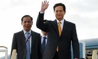 PM Nguyen Tan Dung berangkat menghadiri Konferensi Tingkat Tinggi ke-24 ASEAN