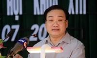 Deputi PM Hoang Trung Hai melakukan kontak dengan pemilih provinsi Thai Binh