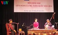 Pembukaan Festival Lagu Rakyat Ca Tru-2014