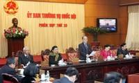 Penutupan persidangan ke-33 Komite Tetap MN Vietnam