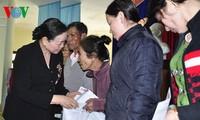 Sekretaris KS PKV, Ha Thi Khiet  menyampaikan ucapan selamat Hari Raya Tet di provinsi Quang Nam