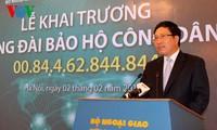 Peresmian Hubungan hotline melindungi warga negara dan badan hukum Vietnam di luar negeri