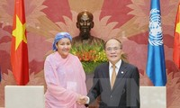 Ketua MN Nguyen Sinh Hung menerima Asisten Sekjen PBB