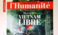 Pers asing memuat berita tentang Vietnam sehubungan dengan peringatan ultah ke-40 pembebasan total Vietnam Selatan dan penyatuan Tanah Air