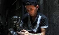Barang hiasan dari batu bara yang indah dan unik di provinsi Quang Ninh