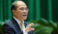 Ketua MN Nguyen Sinh Hung menghadiri Konferensi para Ketua Parlemen di dunia dan melakukan kunjungan resmi di Amerika Serikat