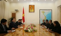 Deputi PM Hoang Trung Hai menerima Menteri Desa, Pembangunan Daerah Tertinggal dan Transmigrasi Indonesia, Marwan Jafar