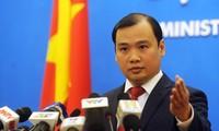 Vietnam meminta kepada Taiwan (Tiongkok) supaya menghentikan aktivitas-aktivitas melanggar kedaulatan Vietnam