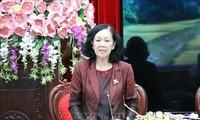 Truong Thi Mai en déplacement à Ninh Binh
