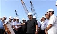 Vize-Premierminister Hai überprüft den Bau von Stromzentrum Duyen Hai