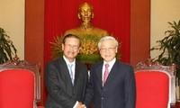 KPV-Generalsekretär Trong trifft Vize-Premierminister Laos Lengsavad