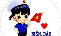 """Fest """"Jugendliche von Ho Chi Minh Stadt verbunden mit Meer und Inseln"""""""