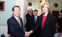 Vize-Premierminister Ninh trifft Bürgermeisterin der City of London Woolf