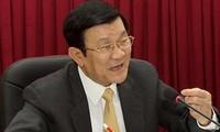 Staatspräsident Truong Tan Sang besucht Haiphong