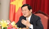 Staatspräsident Truong Tan Sang trifft 63 ausgezeichnete Unternehmen
