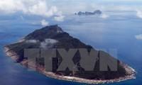 Japan: Landkarte über Souveränität Japans gegenüber Inseln Senkaku