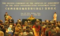 Vietnam unterzeichnet Artikel der AIIB