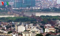 Die Hauptstadt Hanoi von oben