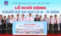 Nguyen Tan Dung nimmt am Spatenstich für Gaspipeline Block B - O Mon teil
