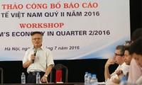 Veröffentlichung des Berichts über Wirtschaft Vietnams im zweiten Quartal 2016