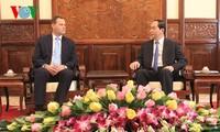 Staatspräsident Tran Dai Quang empfängt den tschechischen Botschafter