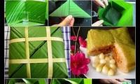 Traditionelle Chung-Kuchen für das Neujahrsfest Tet