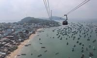 Eröffnung der weltweit längsten Seilbahn über das Meer