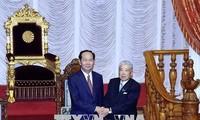 Staatspräsident Tran Dai Quang trifft den Chef des japanischen Unterhauses Tadamori Oshima