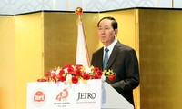 Tran Dai Quang trifft den Präsidenten der Union der Japan-Vietnam-Abgeordneten