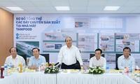 Der Premierminister besucht Fabrik zur Verarbeitung landwirtschaftlicher Produkte