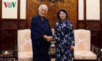 Die Interimsstaatspräsidentin empfängt den Leitern der japanischen Teezeremonie Urasenke