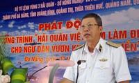 """Start des Programms """"Vietnamesische Marine ist Stütze für Fischer auf dem Meer"""""""