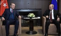 Türkeis Präsident Tayyip Erdogan besucht Russland