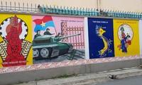 Fresken auf den Straßen verbreiten die Schönheit