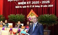 Premierminister Nguyen Xuan Phuc nimmt an der Parteikonferenz der Provinz Nghe An teil
