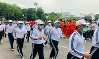 """Tausende Jugendliche nehmen am """"olympischen Lauf für Gesundheit der Bevölkerung"""" teil"""
