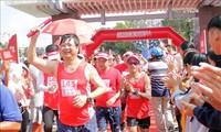 """Abschluss des Staffellaufs """"Vorwärts Vietnam"""" mit der gesamten Strecke von 2020 km"""