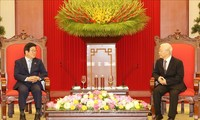 KPV-Generalsekretär und Staatspräsident Nguyen Phu Trong empfängt Südkoreas Parlamentspräsident Park Byeong-Seug